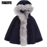 Enfants Enfants de vêtements haut de gamme de vêtements de laine de la Marine d'hiver enduire fille Veste mode