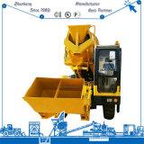Uno mismo del mezclador concreto 3.5m3 de la construcción que carga el mezclador concreto móvil