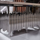 Tabela de jantar de prata com parte superior superior do plutônio da tabela do restaurante do MDF