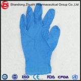 Устранимые голубые медицинские перчатки рассмотрения нитрила руки