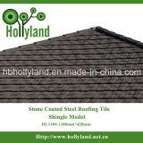 A telha de telhado do metal com pedra revestiu (o tipo da telha)