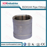 Cruz de aço inoxidável conexões rosqueadas/ISO 4144 da Conexão do Tubo