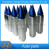 20 PCS M12X1.25 Blue Silver Spiked Sintonizador ampliado las tuercas de seguridad