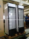 Стеклянный холодильник индикации безалкогольного напитка двери