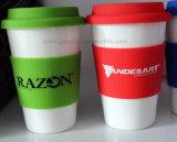 Caffè Mug di Ceramic di corsa con Silicone Cover
