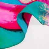 Sciarpa di seta del fiore di stampa moderna di Digitahi per la signora (12-BR210303-2.2)