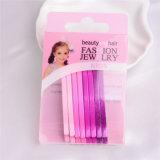 Perni del Bob di bellezza dei capelli del Metal della signora Fashion Colorful Painted (JE1005)