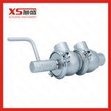 Aço inoxidável Válvula de Inversão Manual de higiene sanitária