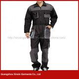 A alta qualidade personalizou combinações cinzentas do trabalho do algodão para os homens (W38)