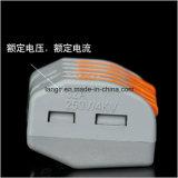 Pct-215 (wago 222-415) Conector de fio compacto universal de 5 pinos Conector do cabo do condutor
