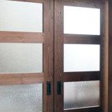 Porta deslizante interior de madeira de porta de celeiro do projeto japonês de América