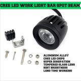 10W 1000lm runder CREE LED Arbeits-heller Punkt-Flut-Träger