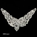 Applique decorativo X030 del merletto del collare del ricamo dell'indumento su ordinazione del reticolo della zona del fiore