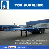 Titan 40 FT-Tri Wellen-Flachbettbehälter-halb Schlussteil-flaches Bett-Schlussteil für Verkauf