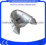 La CE aprobó Peso Ligero pequeño solo casco de aluminio costilla con PVC Tubo inflable
