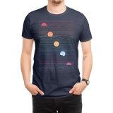 Customedのロゴおよびサイズの黒いポロのTシャツ
