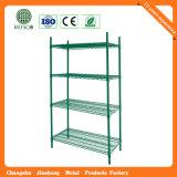Populares Mostrar estantes de alambre de acero cromado