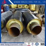 Isolamento rivestito del tubo della gomma piuma dell'iniezione della gomma piuma di poliuretano dell'HDPE