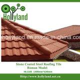 Azulejo revestido de piedra del metal para el uso del material para techos (tipo romano)