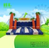 Palm Tree и моря на пляже надувные прыжком Bouncer для детей