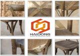 Silla cruzada de madera china de la estera de la rota de la playa del patio del jardín posterior de la venta caliente