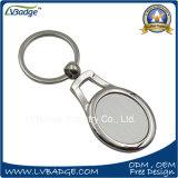 Anel de chave em branco personalizado promocional por atacado