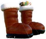 Grosses Weihnachtsaufblasbare bekanntmachende Schuhe
