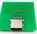 USB3.1 type connecteur femelle 9+15pin, boîte de vitesses de caractéristiques USB3.1 Gen2, résistance de C : 10000 cycles