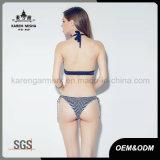 Vestito di nuoto lavorato a maglia barrato Boho del bikini del Halter delle signore