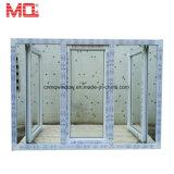 La maggior parte della finestra di plastica popolare di vetratura doppia della stoffa per tendine della fabbrica UPVC della Cina