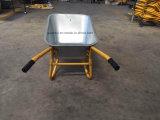 Wheelbarrow chapeado da bandeja da grande capacidade das vendas zinco quente