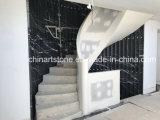 Плитки Китая Nero Marquina черные мраморный для вращая стены шагов