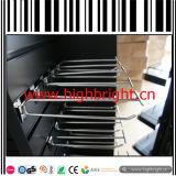 Крюк индикации розницы стального провода Slatwall задний с ценником PVC