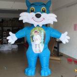 Les fabricants de vente de publicité des produits gonflables, gonflable Cartoon Blue Cat (CT-040)