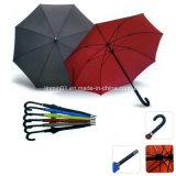 カスタマイズされたハンドルマニュアルの開いたマットの革繭紬のまっすぐな傘