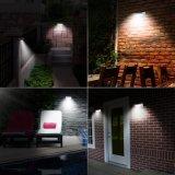 Angeschaltener Lampen-Wand-Solarzaun des Garten-Licht-Bewegungs-Fühler-LED
