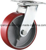 5x2 pouces de noyau de fer en fonte renforcé Roulette polyuréthane