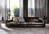 Sofá italiano moderno del hogar del cuero negro (D-72-D)