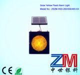 EUの標準太陽動力を与えられた黄色い点滅のトラフィックの警報灯