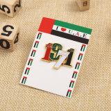 Or personnalisé de haute qualité de l'épinglette des Émirats arabes unis avec le soutien Paquet de Carte