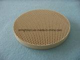 Bolacha cerâmica do Cordierite infravermelho do favo de mel da fornalha para o queimador