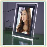 A4 marco de cristal delgado Crystal LED caja de luz para la decoración
