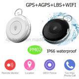 Botão Sos impermeável/Pet pessoal GPS Tracker com slot para cartão SIM PM02
