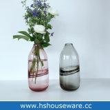 Vaso di vetro di arte saltato mano ottica di colore solido, 11.8inch
