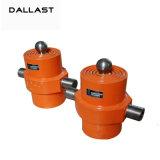 Único cilindro telescópico ativo do petróleo hidráulico para caminhões de descarga