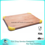 Placa de desbastamento de bambu da placa de estaca do FDA LFGB com ângulos plásticos