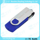 La maggior parte del azionamento di plastica dell'istantaneo 8GB della parte girevole popolare dell'azzurro reale con il marchio (ZYF1818)