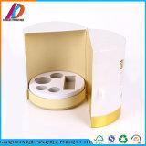 Porte ouverte cosmétique Boîte ronde à l'emballage en carton avec de la mousse