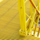 Escalera de FRP Pultruded antideslizamiento rejilla moldeada rallar rallar GRP
