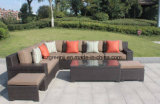 0215 insiemi profondi di lusso di conversazione del patio della disposizione dei posti a sedere con l'ammortizzatore di Sunbrella